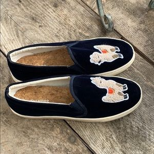 Soludos velvet llama sneakers soze8.5